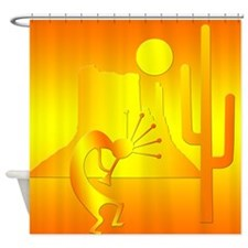 Kokopelli Desert Abstract #4 Shower Curtain