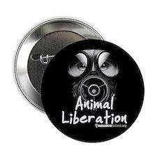 "Animal Liberatopm Black 2.25"" Button (10 pack)"