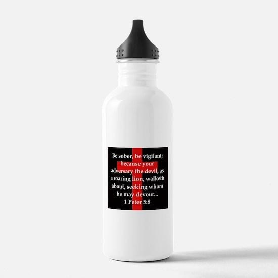 1 Peter 5-8 Water Bottle