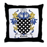 Cattell Coat of Arms Throw Pillow