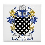 Cattell Coat of Arms Tile Coaster