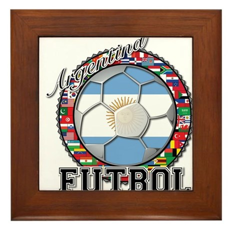 Argentina Flag World Cup Futbol Ball with World Fl