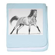 Buckskin Horse baby blanket