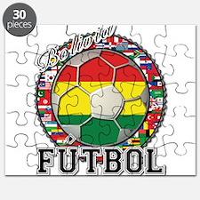 Bolivia Flag World Cup Futbol Ball with World Flag