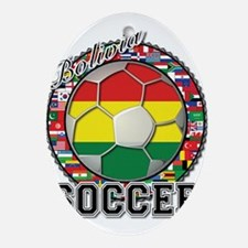 Bolivia Flag World Cup Soccer Ball with World Flag