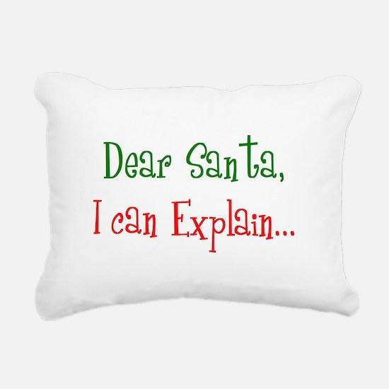Dear Santa I can Explain.bmp Rectangular Canvas Pi
