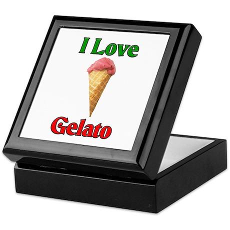 I Love Gelato Keepsake Box