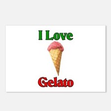 I Love Gelato Postcards (Package of 8)