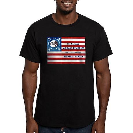 Lincoln for President Men's Fitted T-Shirt (dark)