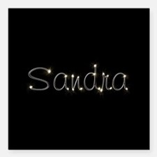 "Sandra Spark Square Car Magnet 3"" x 3"""