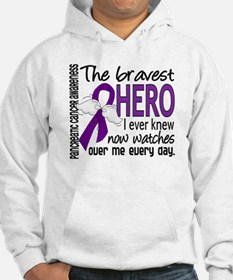 Bravest Hero I Knew Pancreatic Cancer Jumper Hoody