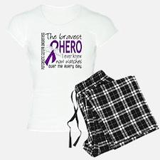 Bravest Hero I Knew Pancreatic Cancer Pajamas