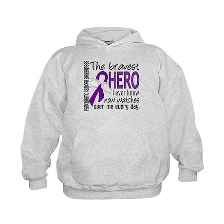 Bravest Hero I Knew Pancreatic Cancer Kids Hoodie