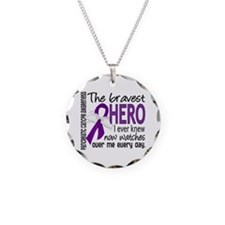 Bravest Hero I Knew Pancreatic Cancer Necklace Cir