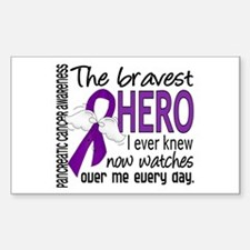 Bravest Hero I Knew Pancreatic Cancer Decal