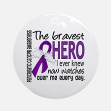 Bravest Hero I Knew Pancreatic Cancer Ornament (Ro