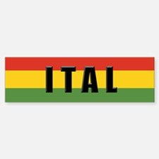 Ital Rasta Bumper Car Car Sticker