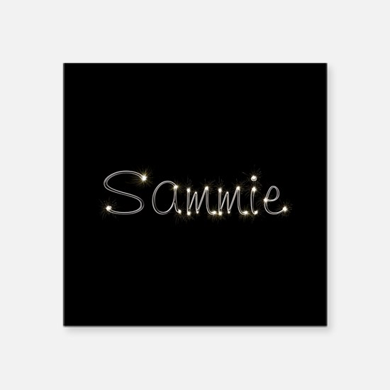 "Sammie Spark Square Sticker 3"" x 3"""