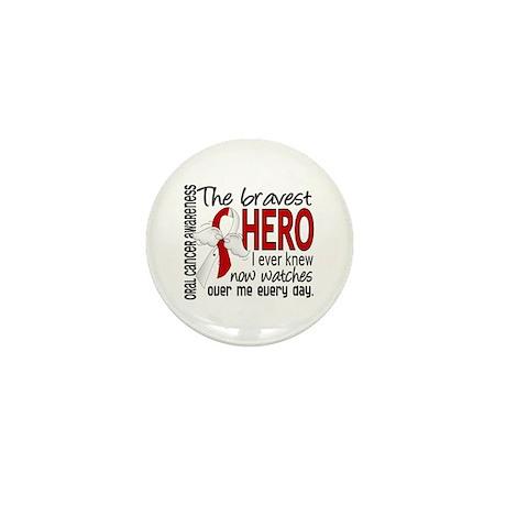 Bravest Hero I Knew Oral Cancer Mini Button (100 p