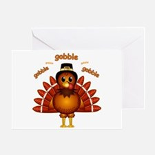 Gobble Gobble Turkey Greeting Card
