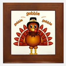 Gobble Gobble Turkey Framed Tile