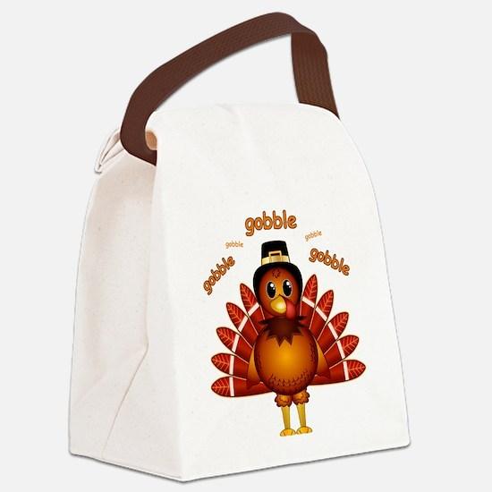 Gobble Gobble Turkey Canvas Lunch Bag