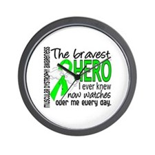 Bravest Hero I Knew Muscular Dystrophy Wall Clock