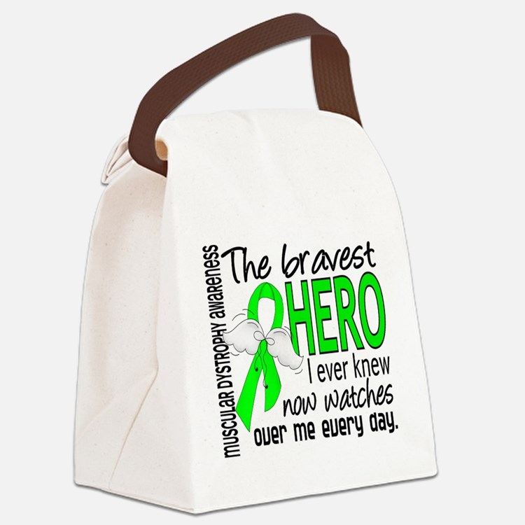 Bravest Hero I Knew Muscular Dystrophy Canvas Lunc