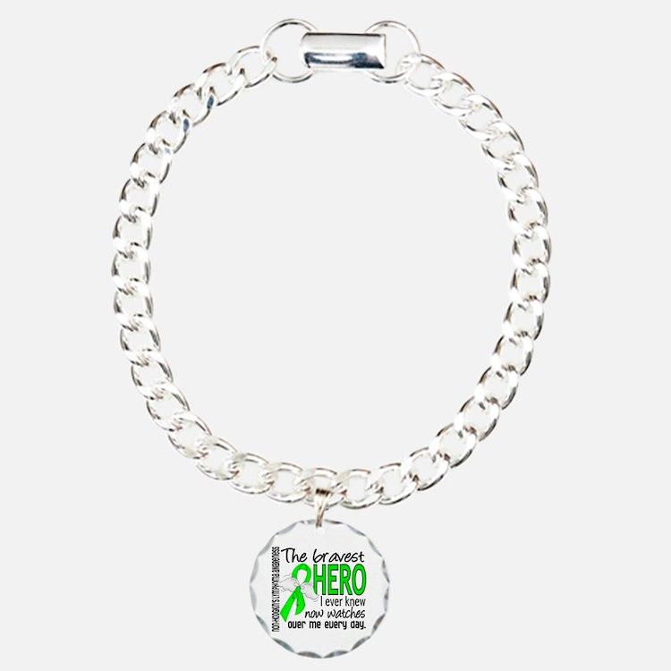 Bravest Hero I Knew Non-Hodgkin's Lymphoma Bracelet