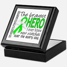 Bravest Hero I Knew Non-Hodgkin's Lymphoma Keepsak