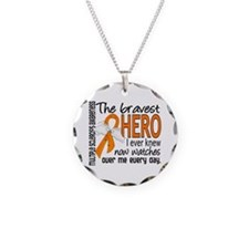Bravest Hero I Knew Multiple Sclerosis Necklace
