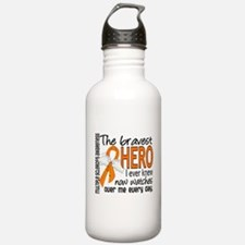 Bravest Hero I Knew Multiple Sclerosis Water Bottle