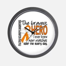 Bravest Hero I Knew Multiple Sclerosis Wall Clock