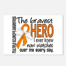 Bravest Hero I Knew Multiple Sclerosis Postcards (