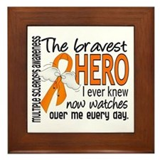 Bravest Hero I Knew Multiple Sclerosis Framed Tile