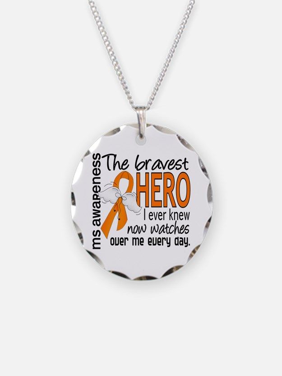 Bravest Hero I Knew MS Necklace