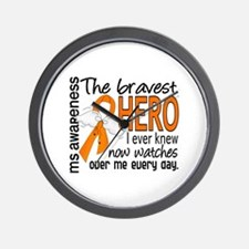 Bravest Hero I Knew MS Wall Clock