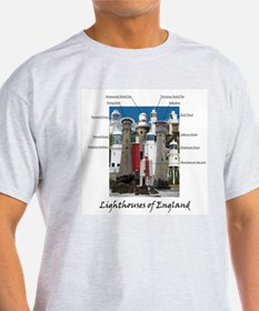 Lighthouses Of England T-Shirt