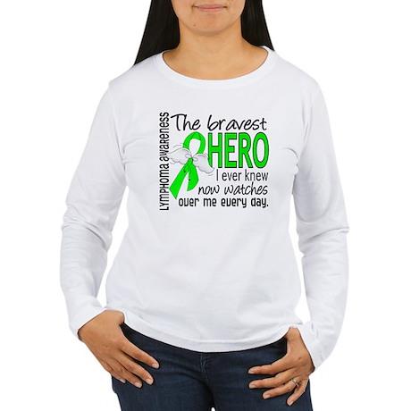 Bravest Hero I Knew Lymphoma Women's Long Sleeve T