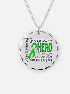 Bravest Hero I Knew Lymphoma Necklace Circle Charm