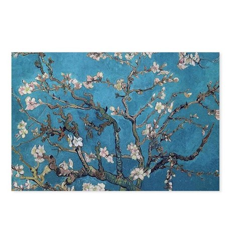 Blossoming Almond Tree 1890 Postcards (Package of