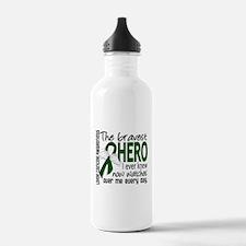 Bravest Hero I Knew Liver Cancer Water Bottle