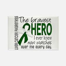 Bravest Hero I Knew Liver Cancer Rectangle Magnet