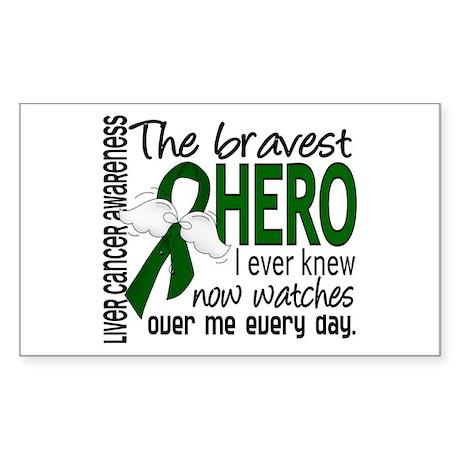 Bravest Hero I Knew Liver Cancer Sticker (Rectangl
