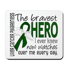 Bravest Hero I Knew Liver Cancer Mousepad