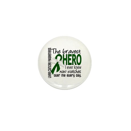 Bravest Hero I Knew Liver Cancer Mini Button (100
