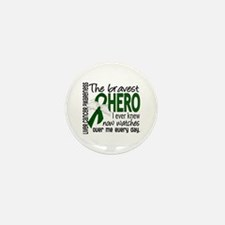 Bravest Hero I Knew Liver Cancer Mini Button (10 p