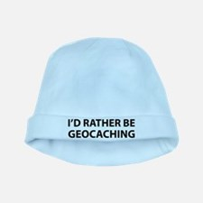 I'd Rather Be Geocaching baby hat