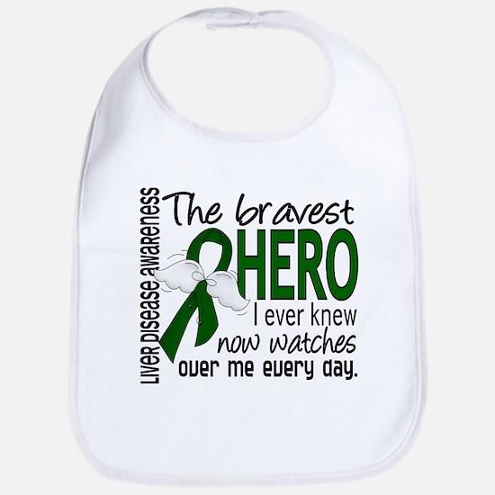 Bravest Hero I Knew Liver Disease Bib