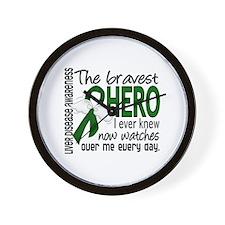 Bravest Hero I Knew Liver Disease Wall Clock